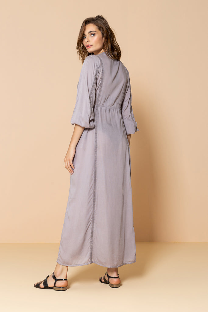 Long Kimono Seasalt Light Brown