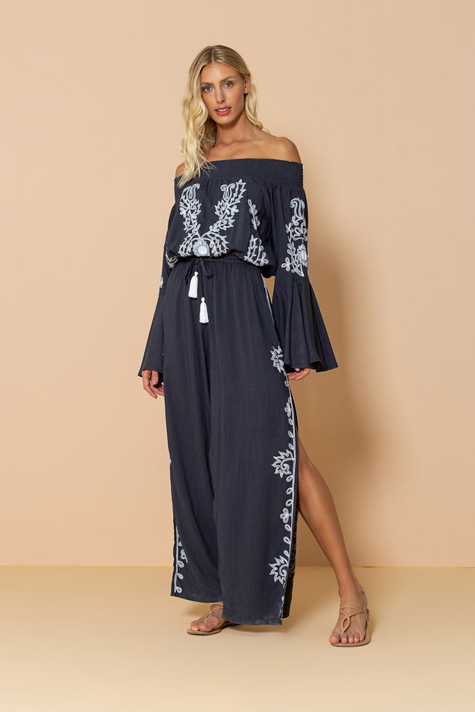 Long Jumpsuit Rachel Dark Grey