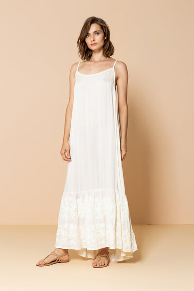 Long Dress Antônia Embroidery Off White
