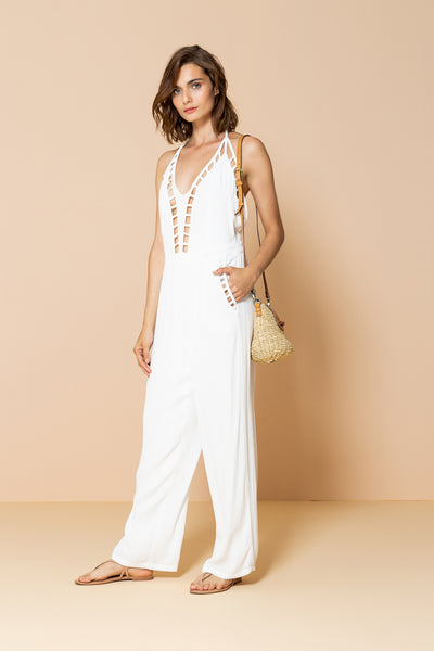 Long Jumpsuit Victória Offwhite
