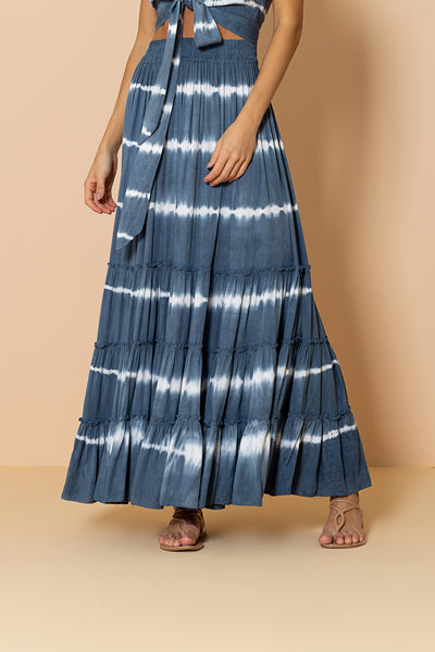 Skirt Mirage Tie Dye Blue Ocean