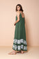 Long Dress Antônia Embroidery Green