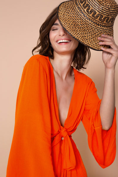 Top By The Sea Dark Orange