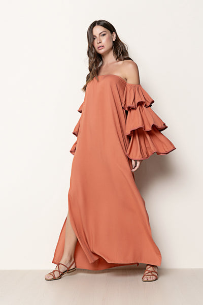 Long Dress Louise Terracota