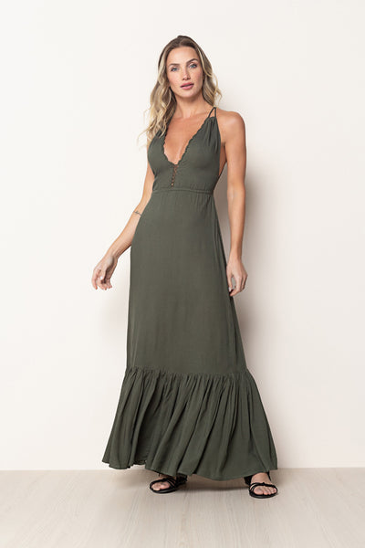 Long Dress Lulu Dark Green