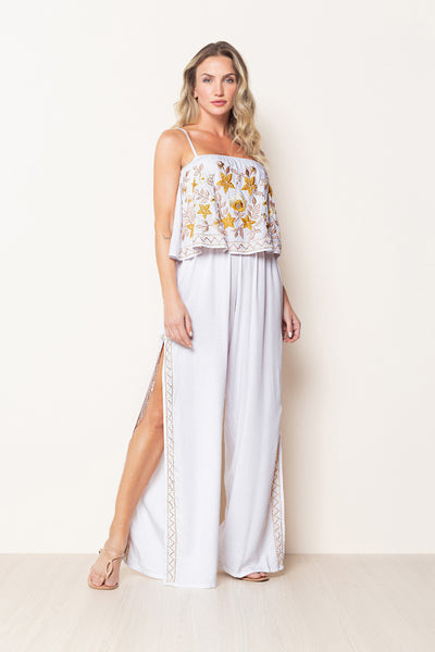 Long Jumpsuit Pietra White
