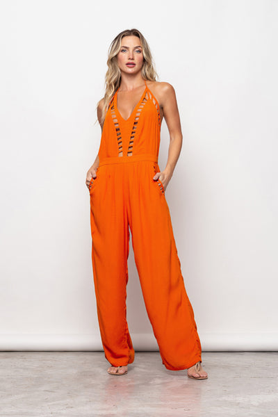 Long Jumpsuit Victória Dark Orange