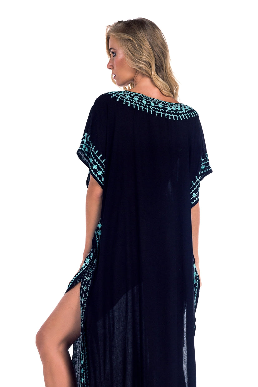 Long Caftan Georgia Black