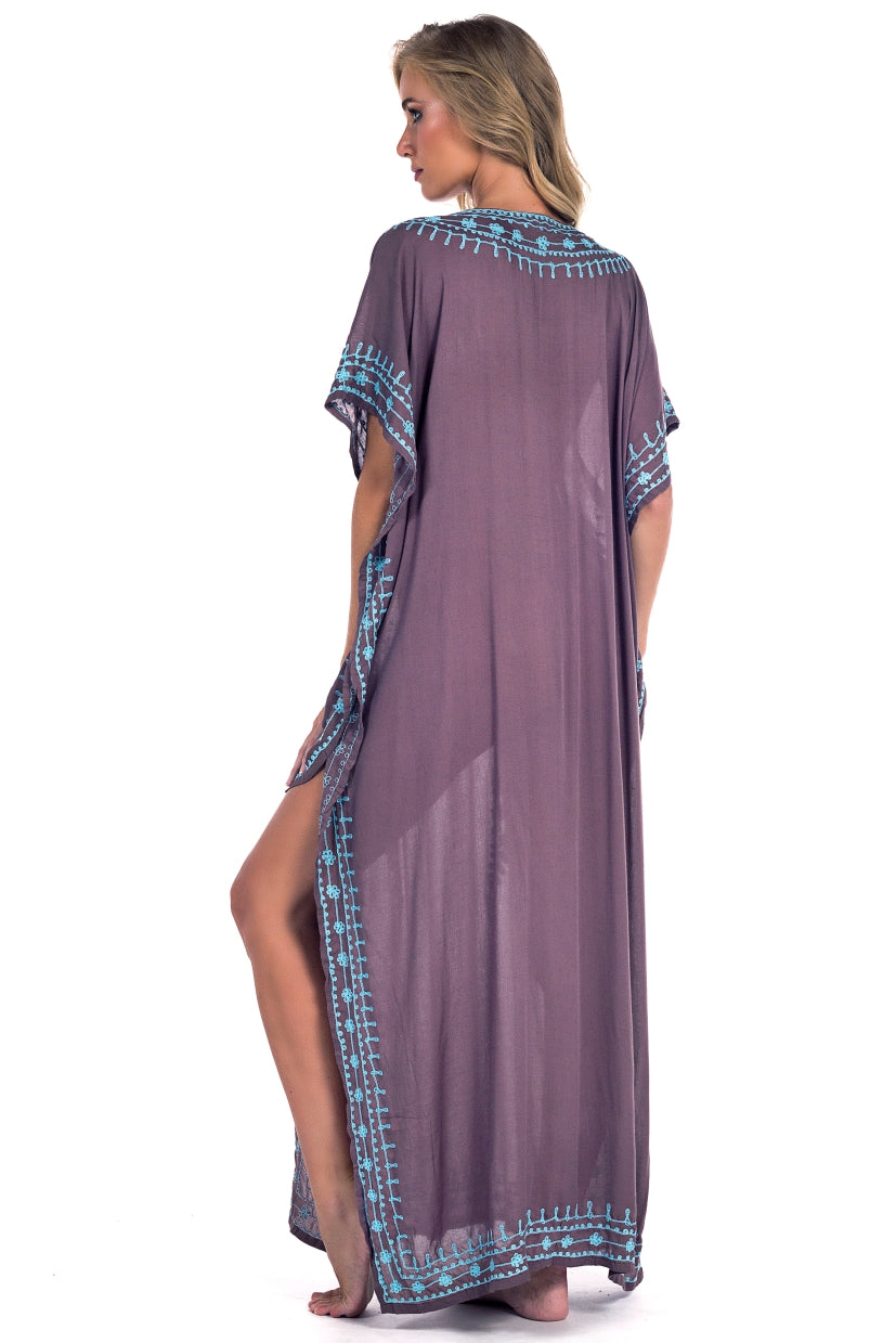 Long Caftan Georgia Light Brown