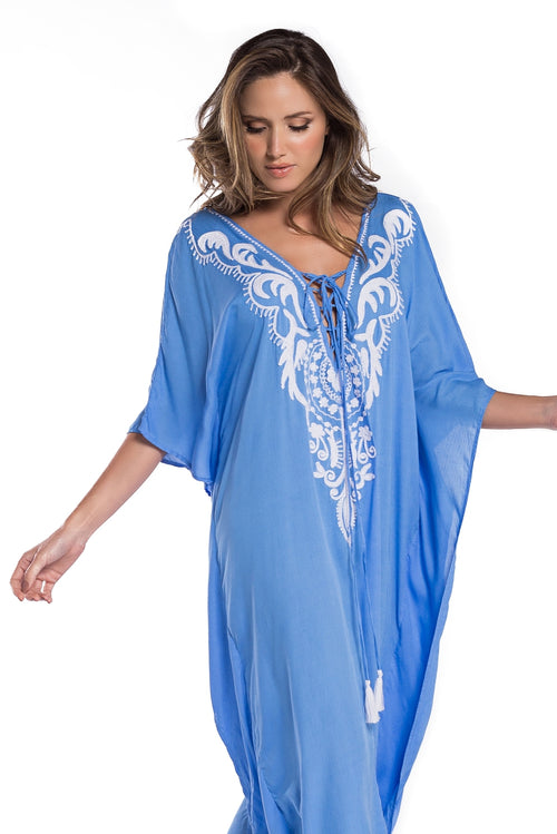 Long Caftan Kalita Blue Sky