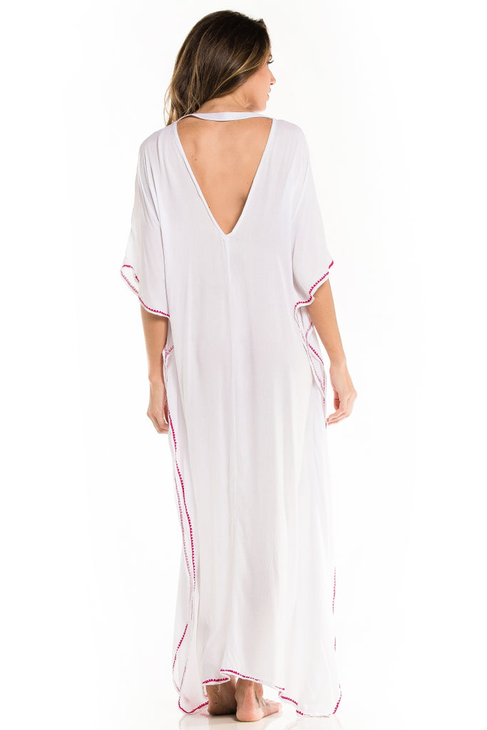 Long Caftan Maya White
