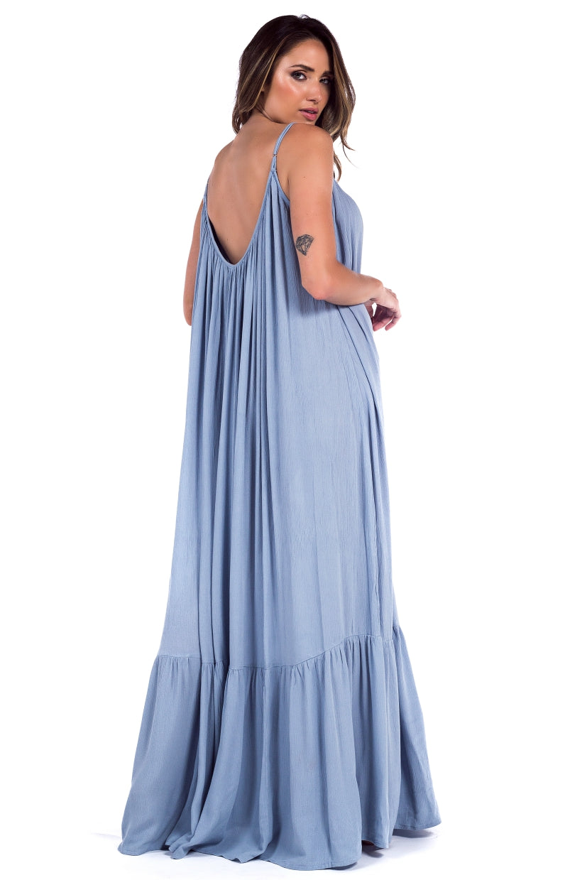 Long Dress Antônia Blue Ice