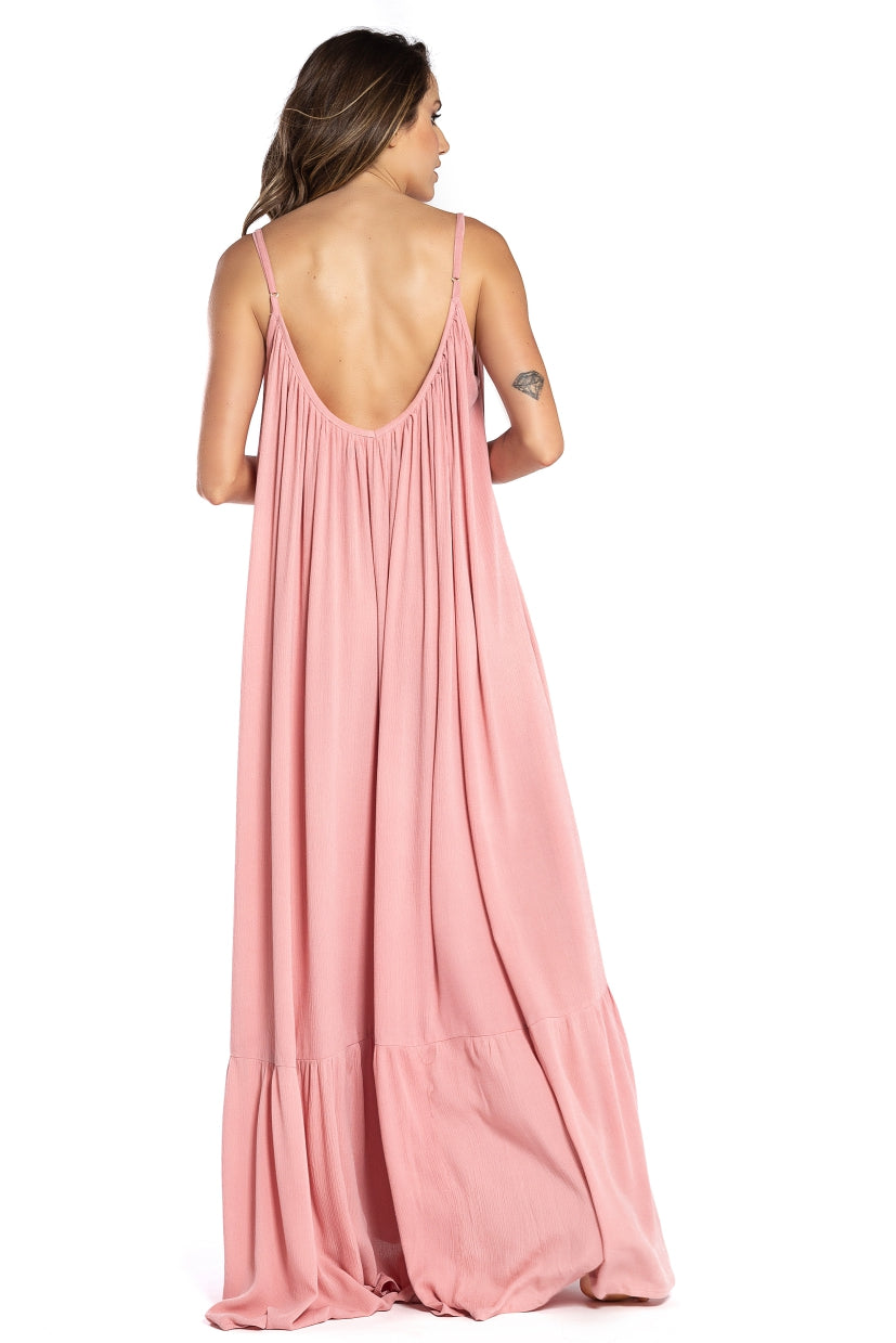 Long Dress Antônia Old Pink