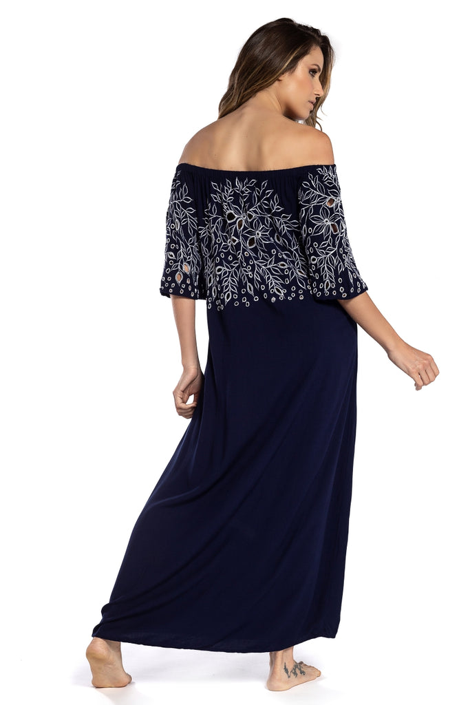 Long Dress Greta Dark Navy