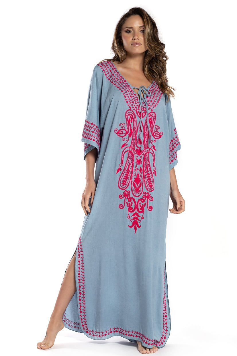 Long Dress Marrakech Blue Ice
