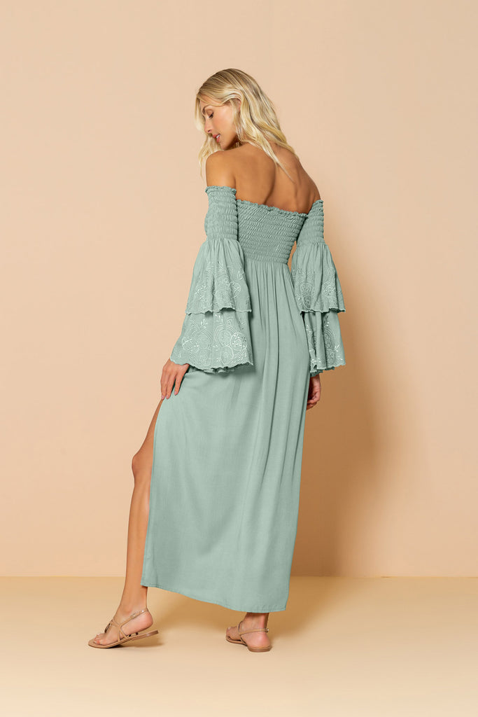 Long Dress Valentina Light Green