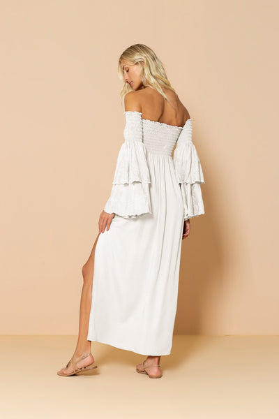 Long Dress Valentina Offwhite