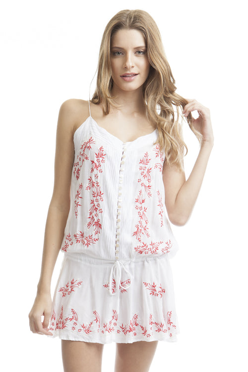 Dress Top Flowers White
