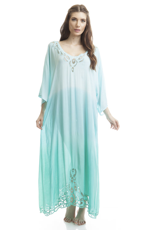 Long Caftan Krawang Light Green