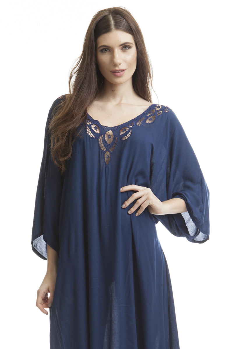 Long Caftan Dark Navy