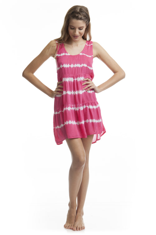 Dress Holiday Tie Dye Pink