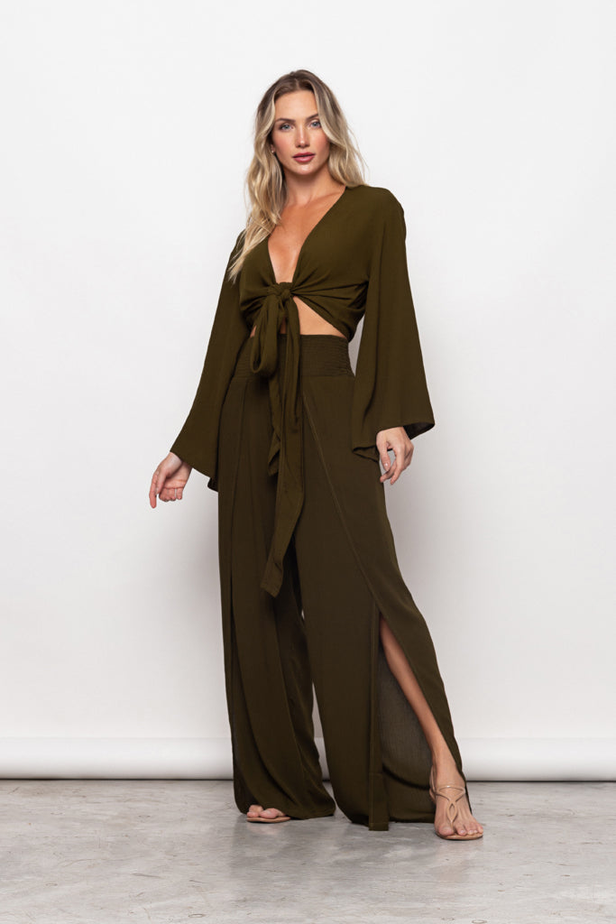 Top By The Sea Olive Green