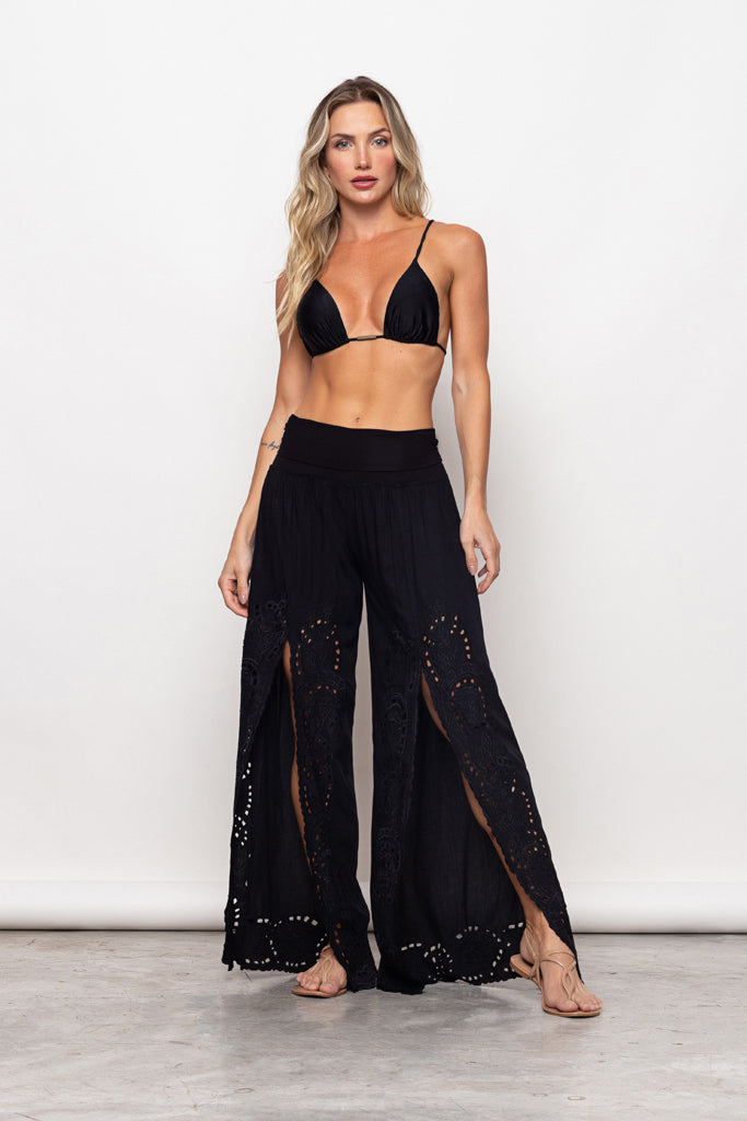 Pant Gisele Embroidery Black