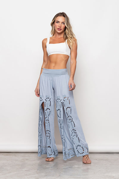 Pant Gisele Embroidery Light Jeans