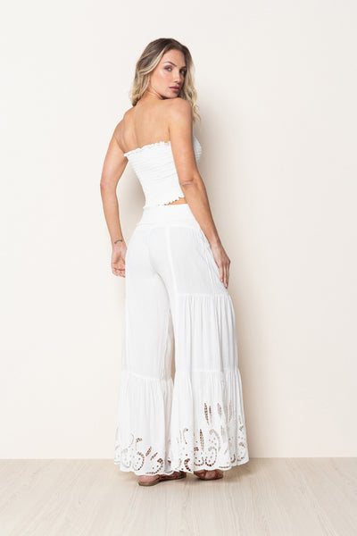 Pant Maldives Embroidery Off White