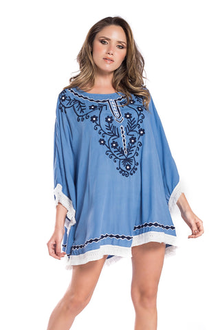 Dress Lorena Lace Blue Ice