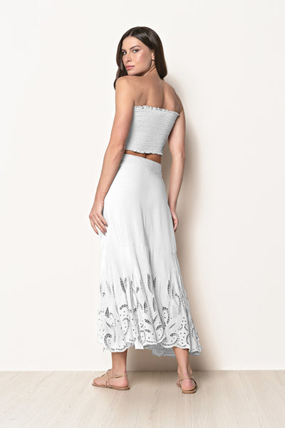 Skirt Lila Off White