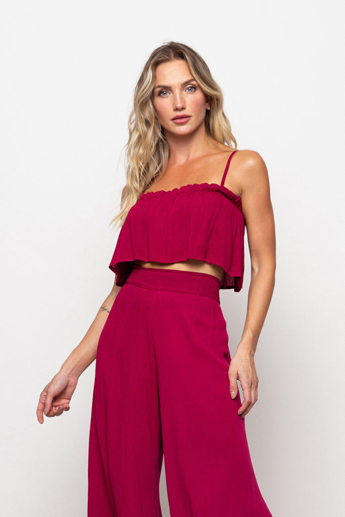 Top Francesca Dark Red