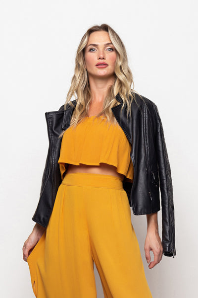 Top Francesca Dark Yellow