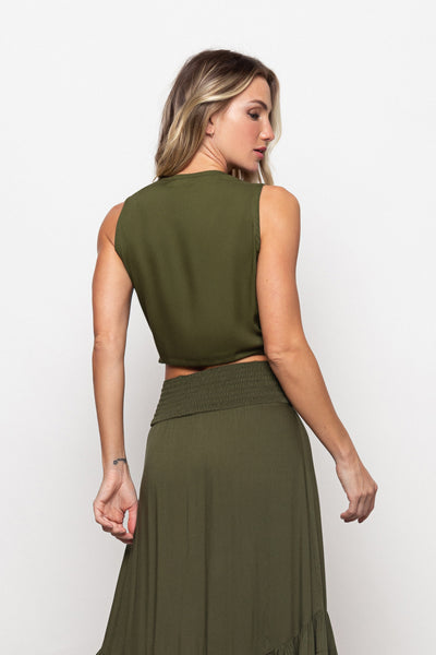 Top Jess Olive Green