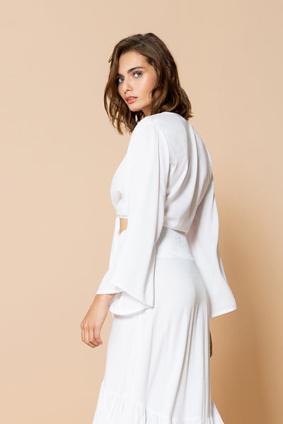 Top Jess White Long Sleeve