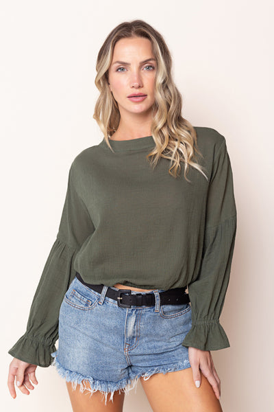 Top Nicolle Dark Green