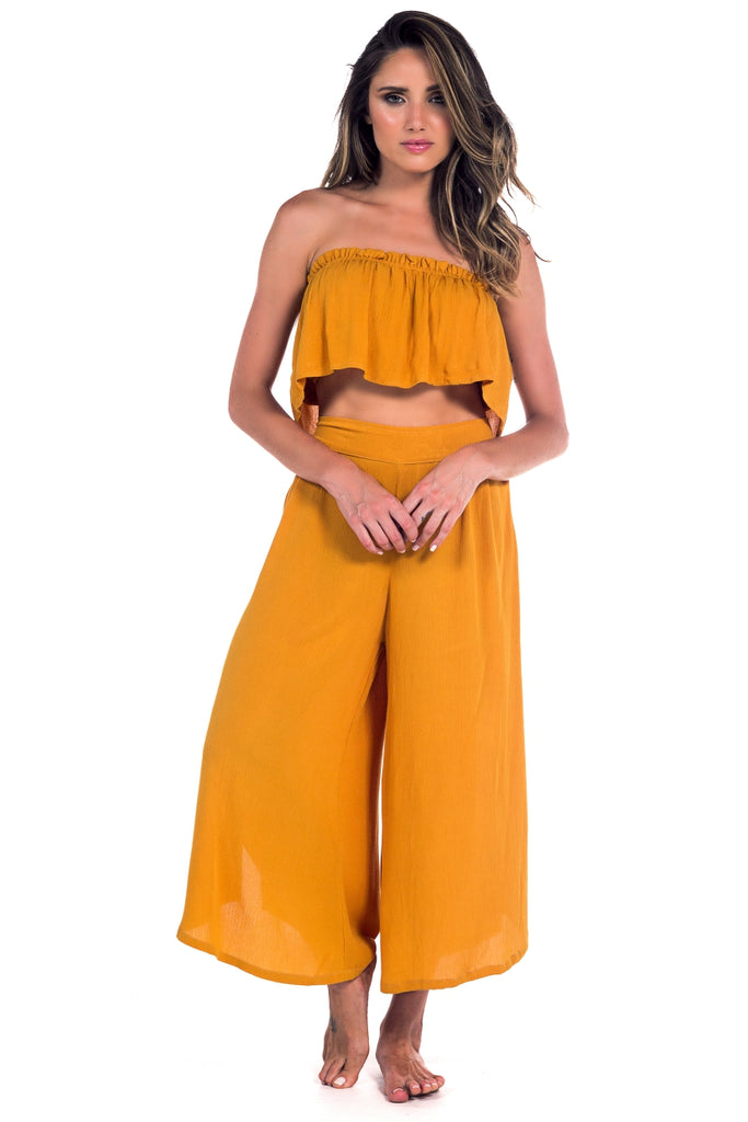 Francesca Pant Dark Yellow