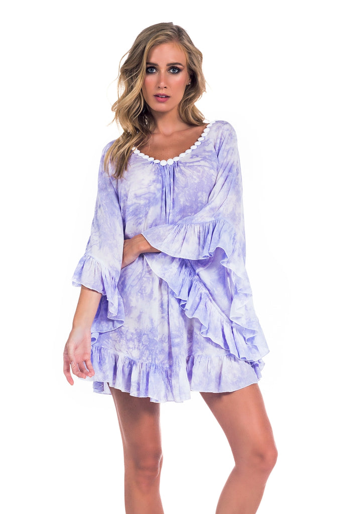 Tunic Phuket Tie Dye Light Purple