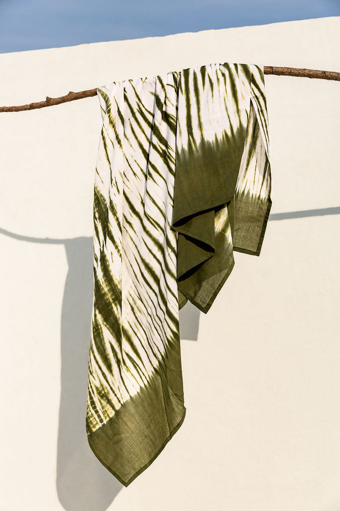 Beach Cover Tie Dye Olive Green