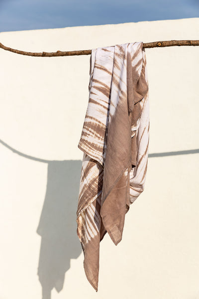 Beach Cover Tie Dye Light Brown