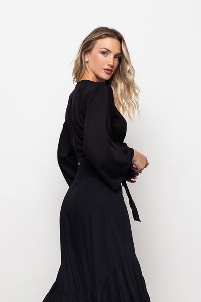 Top Jess Black Long Sleeve