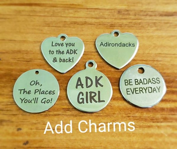 ADK Charm Bracelet - Mountain Green