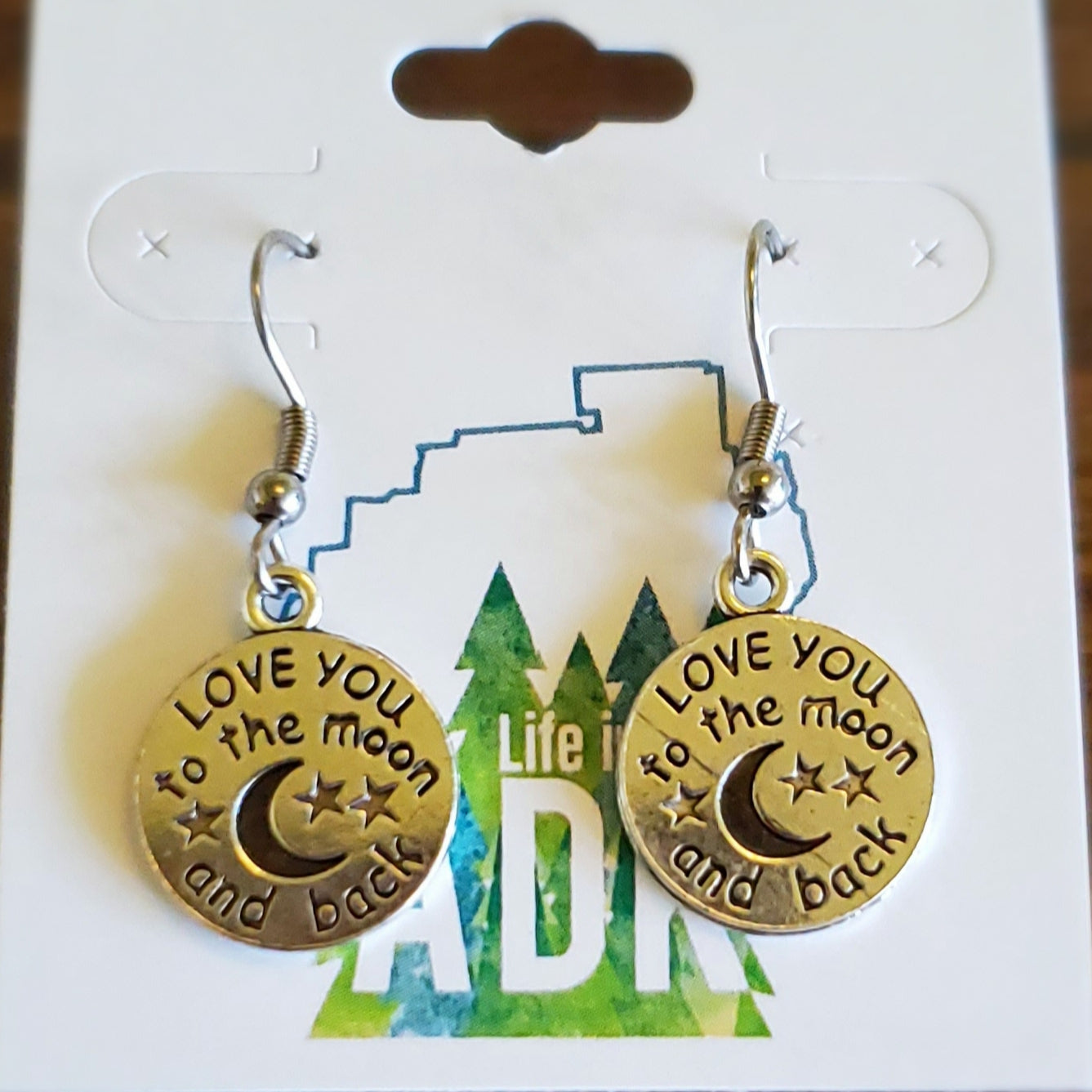 Love You to the Moon and Back Earrings