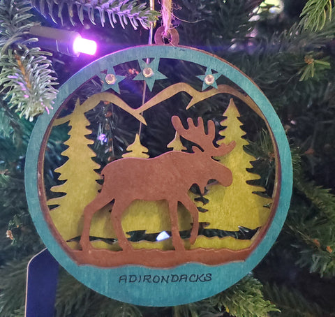 Moose Ornament 6