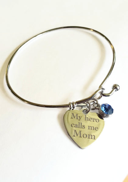 My Hero Calls Me Mom Bracelet