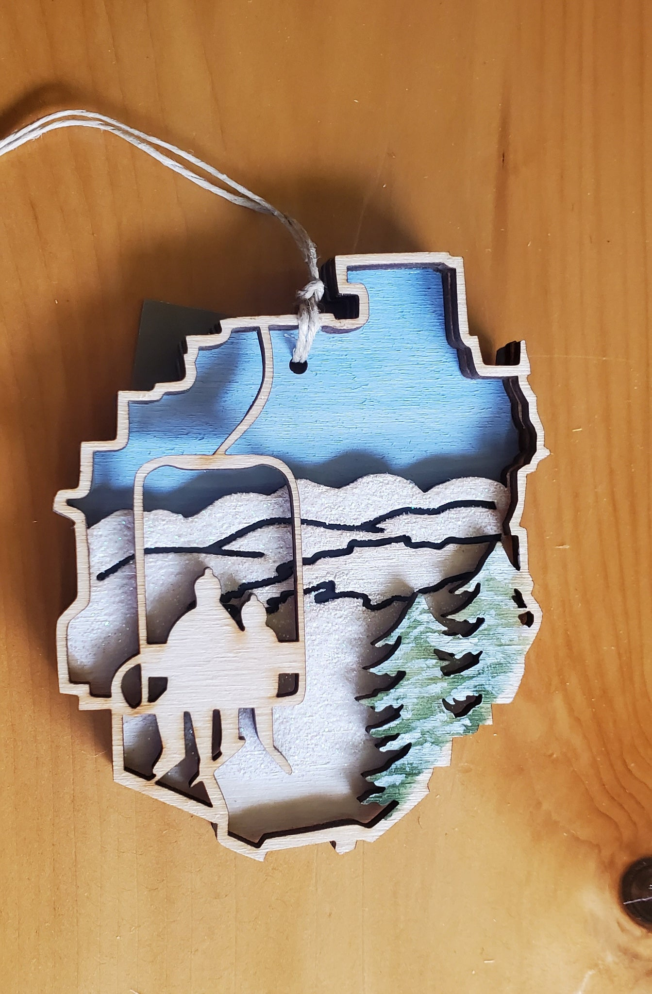 Adirondack Park with Ski Lift Ornament
