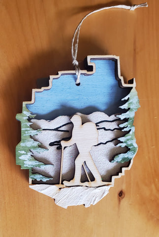 Adirondack Park with Snowshoer Ornament