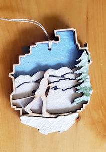 Adirondack Park with Cross Country Ski Ornament