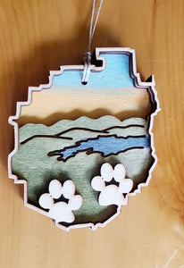 Adirondack Park with Paws Ornament