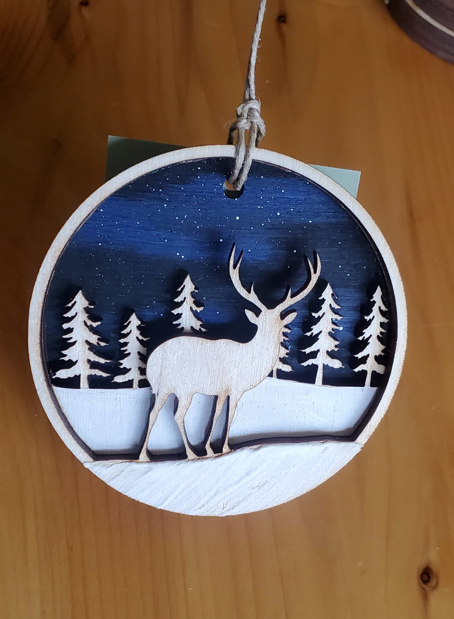 Deer Under the Stars Ornament